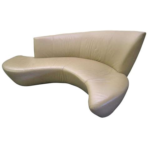 vladimir kagan bilbao sofa fabulous sculptural modern vladimir kagan leather bilbao