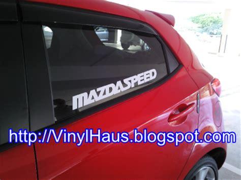 Sticker Stripe Mazda 2 004 vinyl haus customized vinyl stickers t shirts button