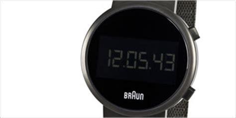 braun digital modern watches