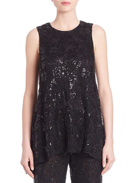 Marc Mesh Lace Robert Bag On Bags It Or It by Lyst Marc Valvo Beaded Lace Trapeze Top In Black