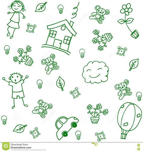 doodle home child drawing home doodle stock vector image 71542000