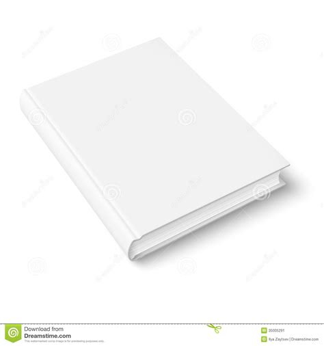 blank book template stock image image 35005291
