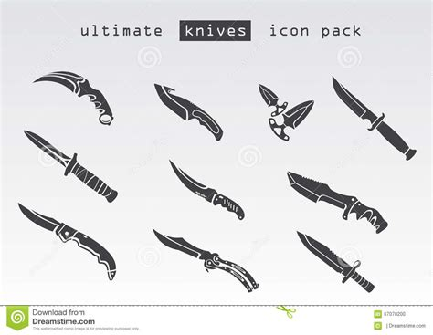 different kinds of knives different type of knives stock illustration image of
