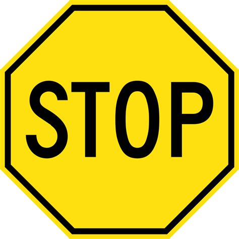 Stop X file yellow stop sign svg wikimedia commons