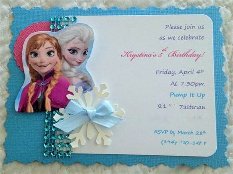 Frozen Handmade Invitations - handmade frozen invitations with snowflake