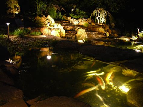 Pond Lighting by Pond Lighting Turpin Landscaping