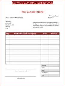 Contract Invoice Template Invoice Template Contractor Free To Do List