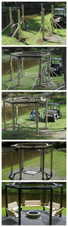swing around the circle from troline frame repurpose an old troline