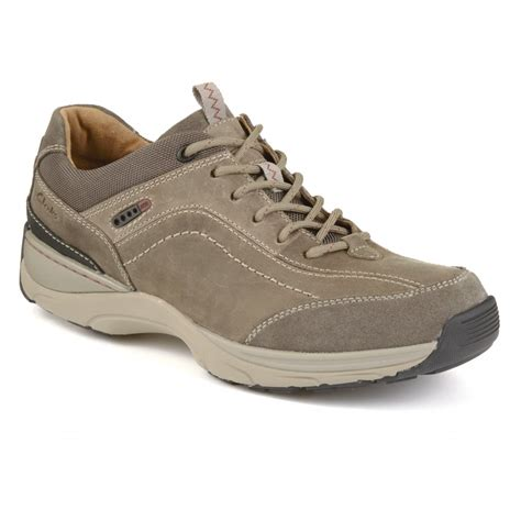clarks mens skyward vibe olive nubuck casual shoes