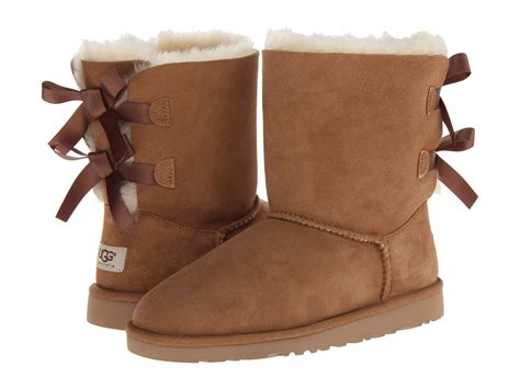 ugg boots bows on back ugg bailey bow big kid shipped free at zappos