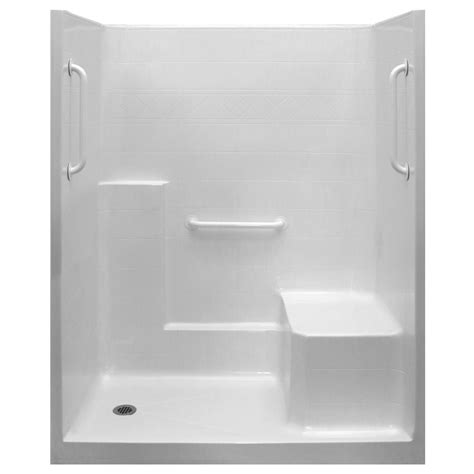 Shower Stall Bathtub Ultimate 60x32 One Piece Low Threshold Shower Stall Amp Kit