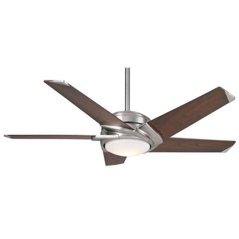 dc ceiling fan with light casablanca fan co stealth dc brushed nickel led ceiling