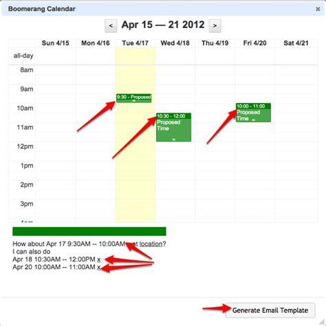 Boomerang Calendar Smart Calendar Assistant For Gmail Boomerang Calendar