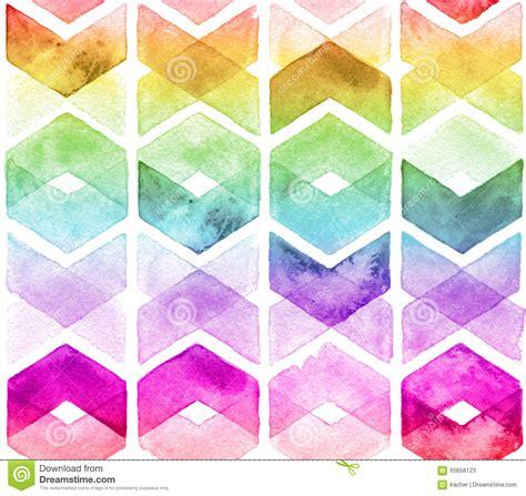 watercolor chevron pattern watercolor chevron rainbow colors stock illustration