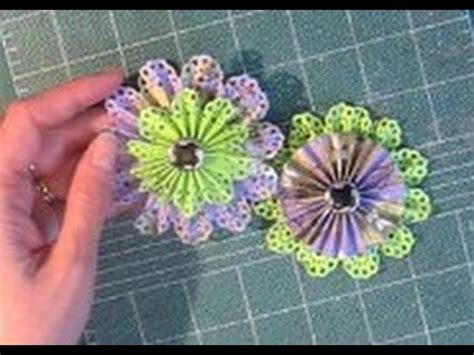 How To Make Paper Rosette Flowers - how to make paper rosette flowers timesaver make two at