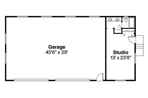 Garage Floor Plans With Bathroom | traditional house plans garage w studio 20 002