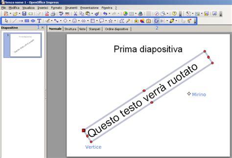 come in un testo openoffice impress ruotare il testo tutorials photoshop