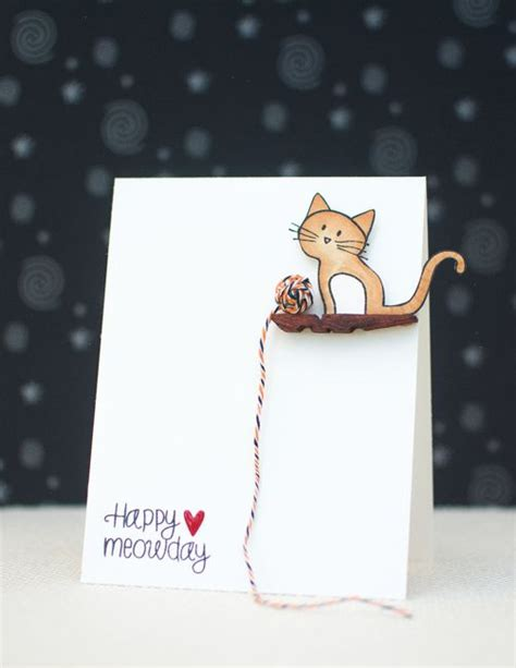 cat cards how to cat greeting card