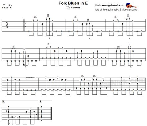 tutorial fingerstyle folk blues in e fingerstyle blues tab blues