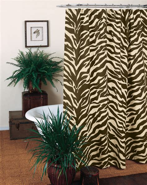 zebra shower curtain brown zebra shower curtain interiordecorating