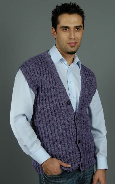 knitting pattern mens sleeveless vest more fall cardigans and vests to knit for men 31 free