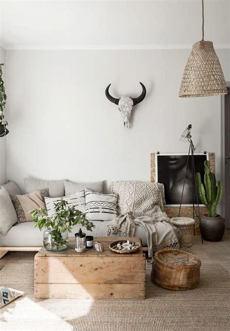 light bohemian living room natural decor pinterest