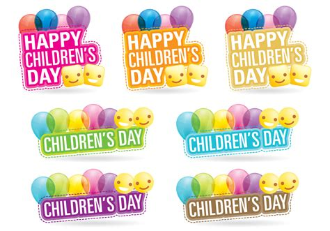 s day titles childrens day titles free vector stock