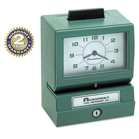 printable clock model model 125 analog manual print time clock with month date 0