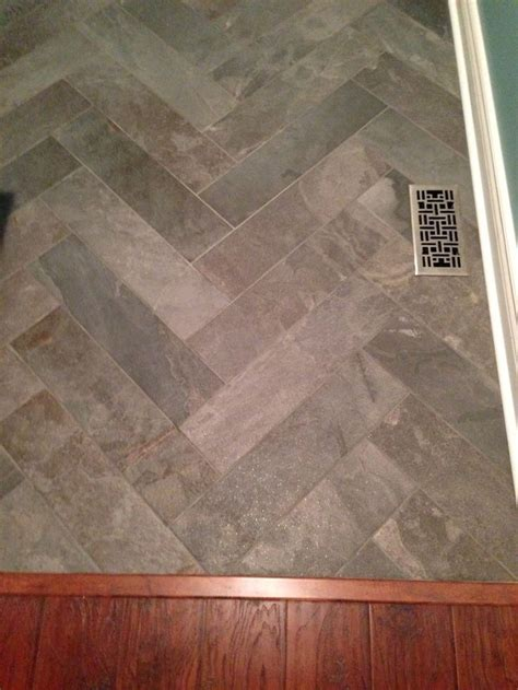 My herringbone floors! ? 6x24 tile   Kitchen Facelift