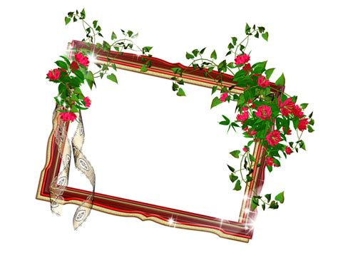 flower frame template flower photo frames design clipart best