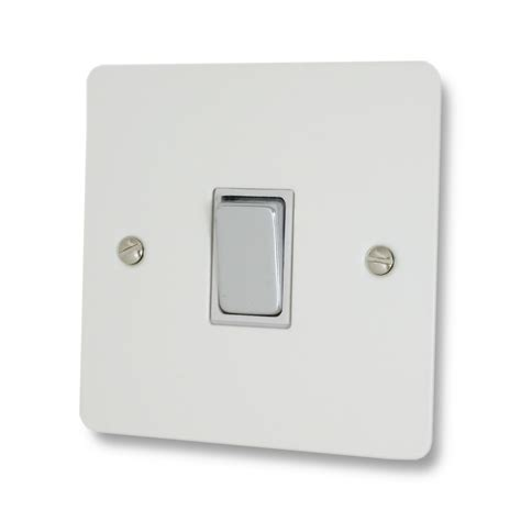 flat light switch cover flat white light switch 1 gang chrome switch