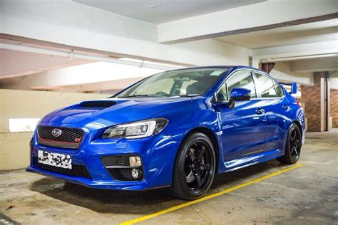 subaru wrx custom blue 2015 subaru wrx sti with custom red grill trim sti