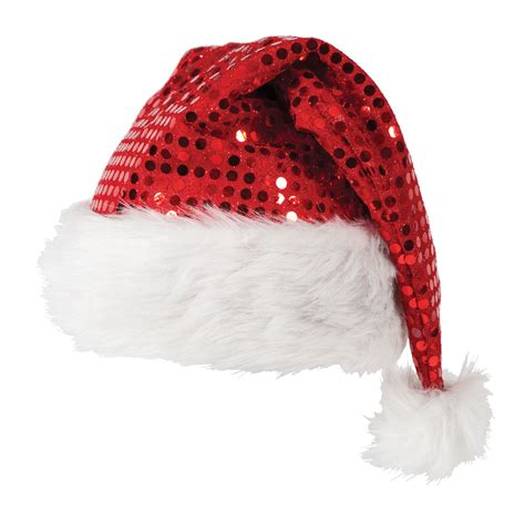 deluxe sequin santa hat fancy dress christmas xmas crimbo