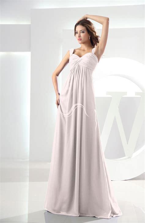 casual wedding dress pink light pink bridesmaid dress casual empire zipper chiffon