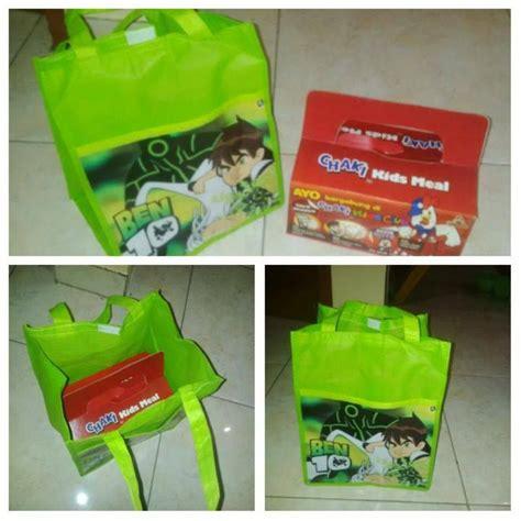 Harga Goodie Bag Ultah Anak contoh isi nasi kotak kfc chaki goodie bag tenteng