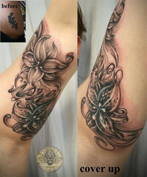 cover up sleeve tattoo designs cover up designs for arm cover up lilies chicano
