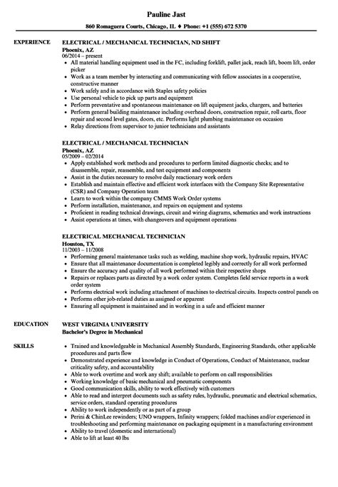 resume format for electrical technician electrician resume skills resume cover letter exle custodial engineer resume http www
