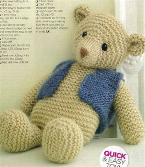 pattern for simple knitted teddy bear 41 best teddy bears images on pinterest knitted animals