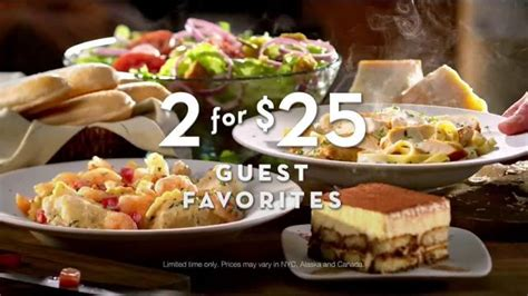 olive garden 2 for 1 olive garden tv commercial 2 for 25 is back ispot tv