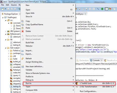 Xml Testing Tutorial | testng tutorial project workspace library test cases