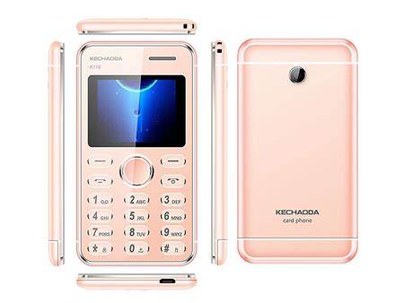 kechaoda k116 plus dual sim credit card size mobile phone