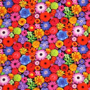 colorful fabric bloominescent colorful flowers poplin fabric robert