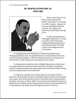 biography reading exercise biography martin luther king jr upper elementary a