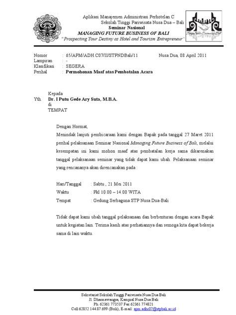 surat pembatalan acara