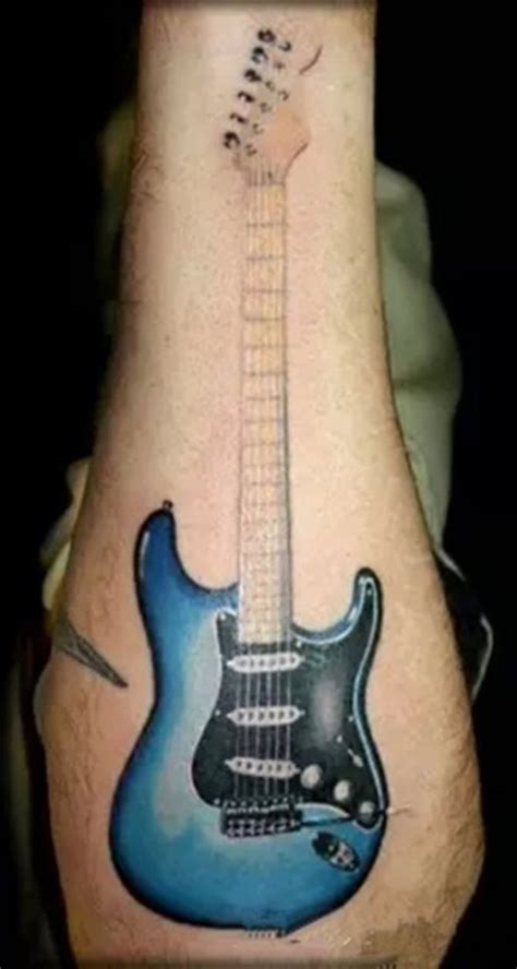 guitar tattoos tattoofanblog