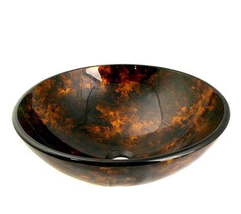 multi colored round glass vessel sink 154 uvlfa154
