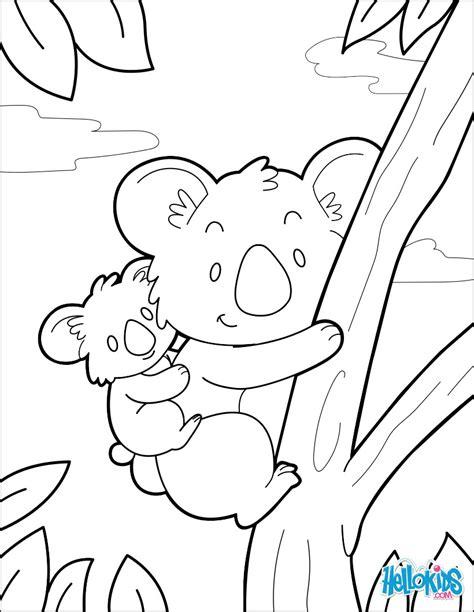 dibujos para colorear koala dibujos para colorear koala es hellokids com
