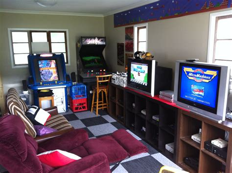 reddit com home design small video game and arcade gaming room in the garage by