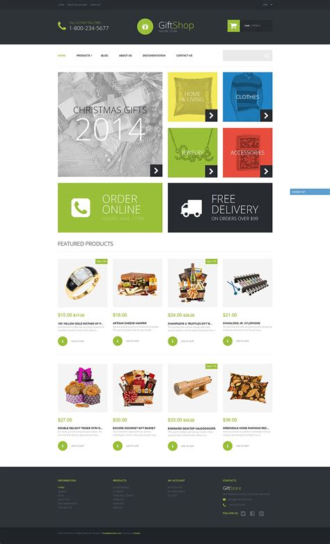shopify themes for large inventory gift shop shopify theme 52257