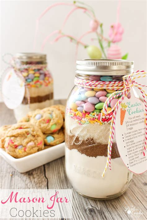 printable cookie jar recipes easter mason jar cookie recipe with free printable tags